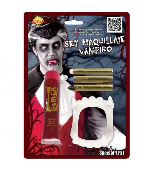 Kit Maquillaje Vampiro con Sangre