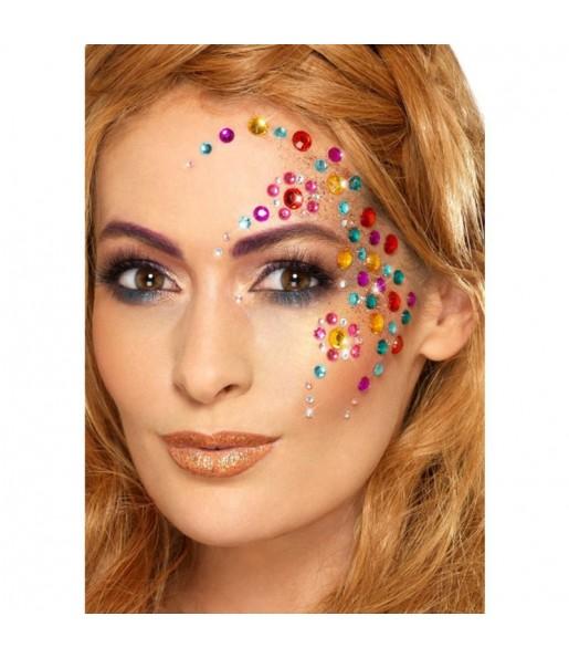 Maquillaje Joyas Faciales Arco Iris