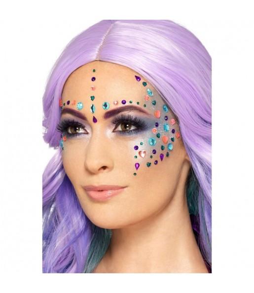 Maquillaje Joyas Faciales Multicolor