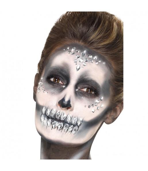 Maquillaje Joyas Faciales Plateadas