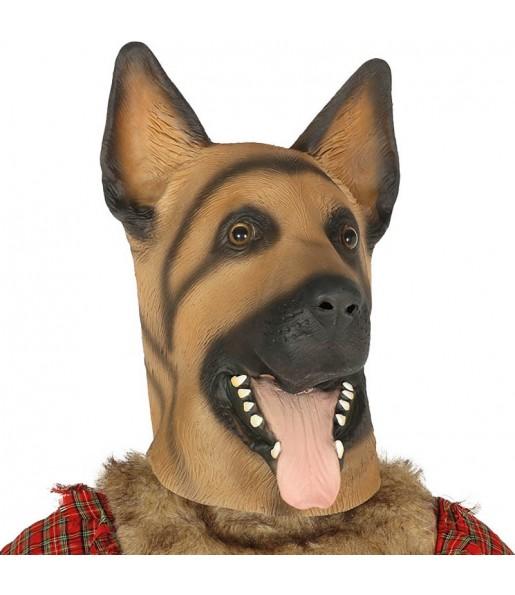 Máscara de Perro Pastor Alemán látex