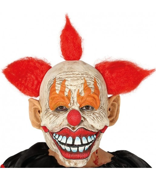Máscara Payaso Siniestro con pelo