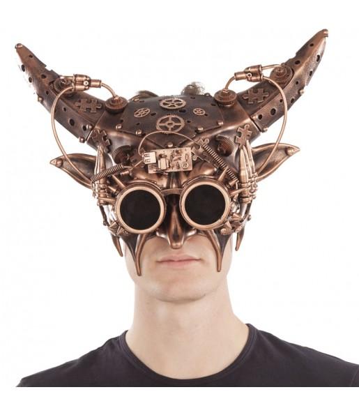 Máscara Steampunk con cuernos