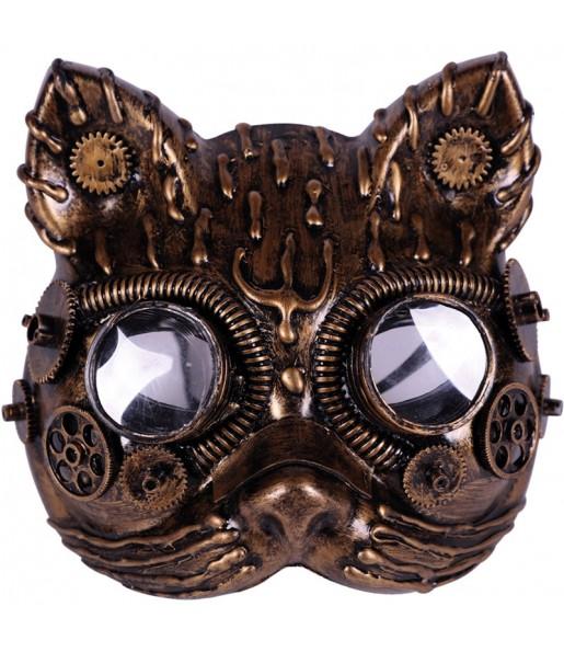 Máscara Steampunk gato