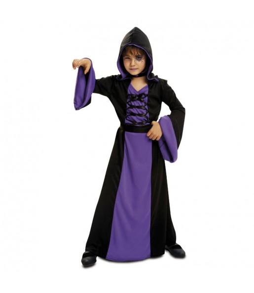 Disfraz de Hechicera Morada Infantil