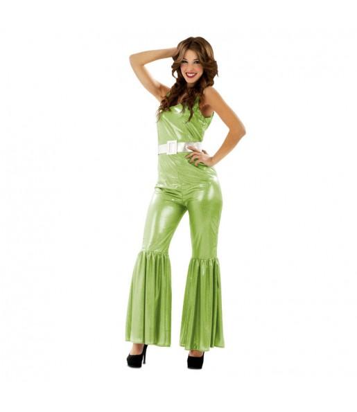 Disfraz de Chica Disco Verde