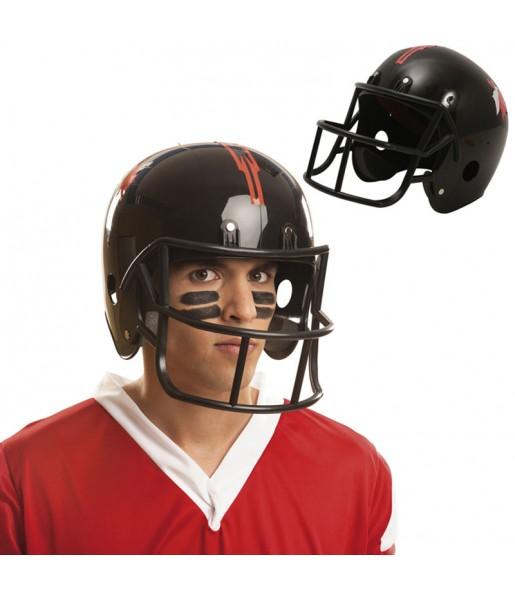 Casco de futbol americano negro adulto