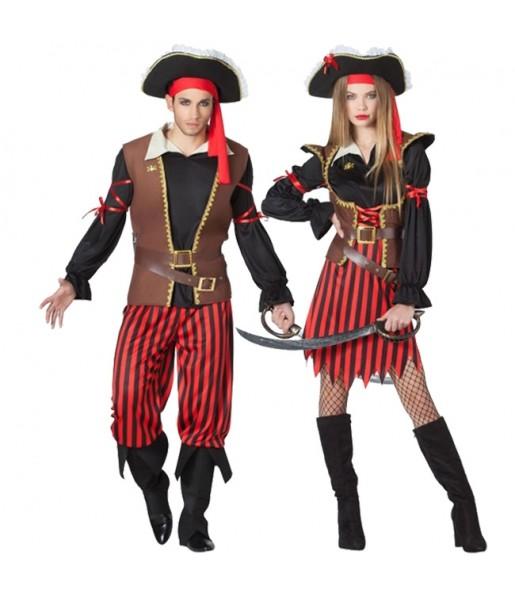 Pareja Capitanes Pirata