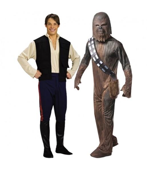 Pareja Chewbacca y Han Solo