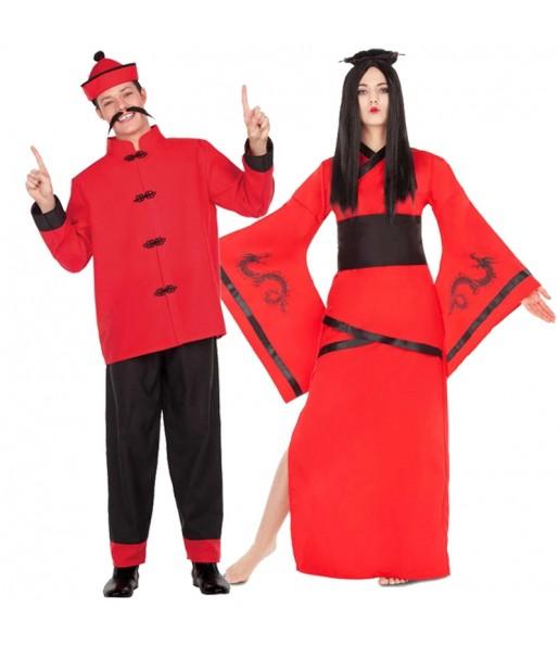 Pareja Chinos Rojos