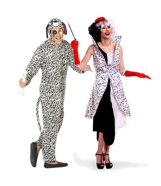 Pareja Cruella y Dálmata
