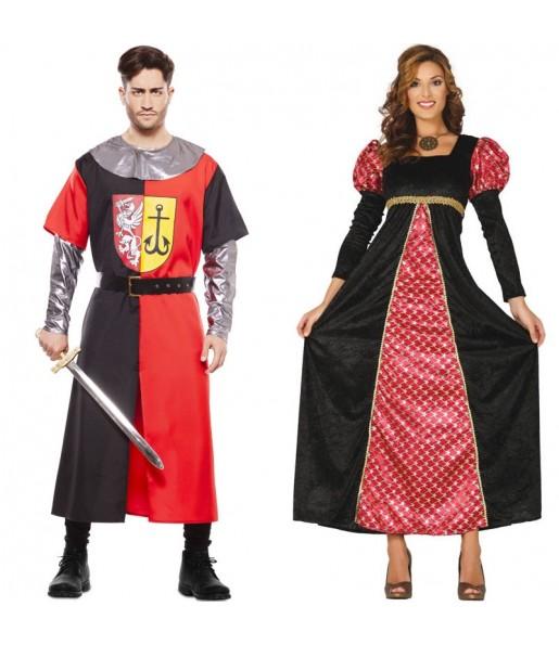 Pareja Cruzado Medieval y Princesa Corte