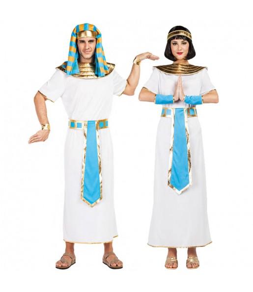 Pareja Egipcios Azules