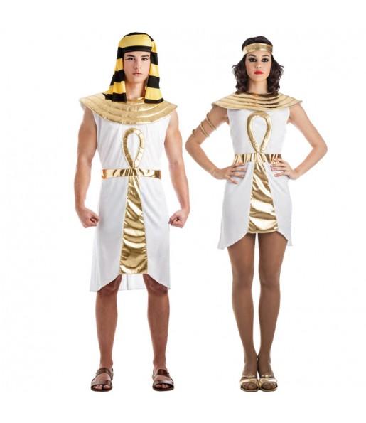 Pareja Egipcios Dorados