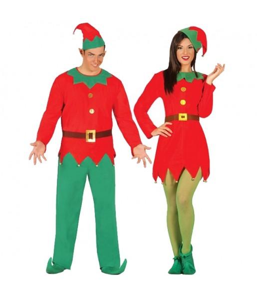 Pareja Elfos Santa Claus