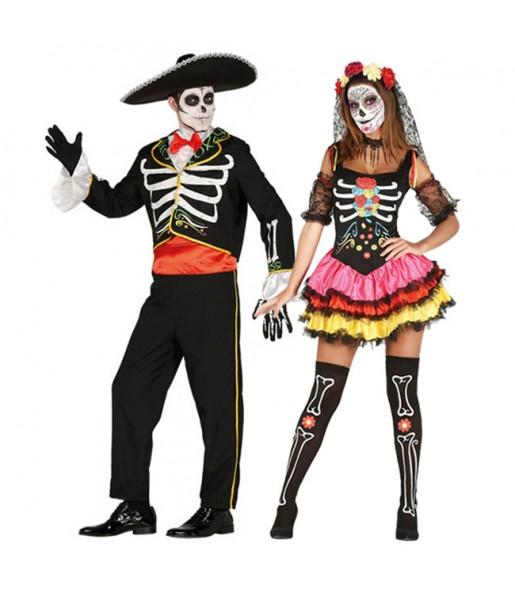 Pareja Esqueletos Mexicanos Catrina