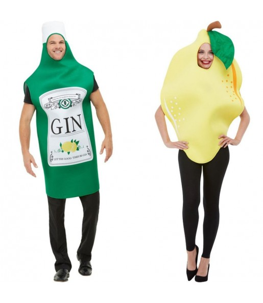 Pareja Disfraces Gin Tonic