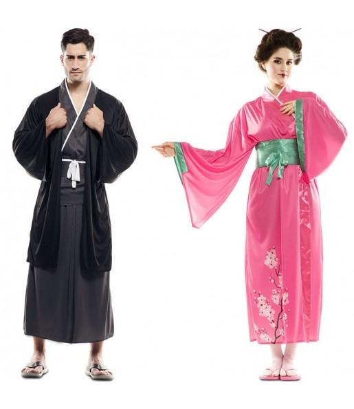 Pareja Guerreros Japoneses