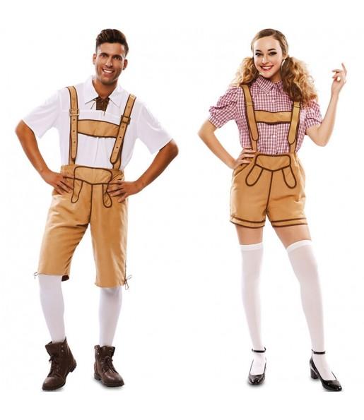 Pareja Lederhose Oktoberfest adulto