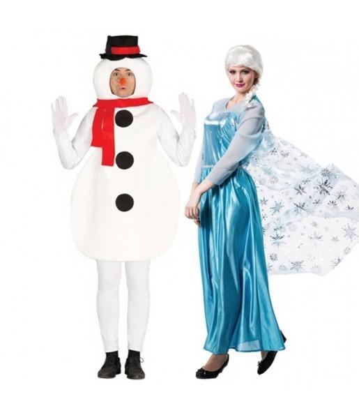 Pareja Olaf y Elsa Frozen