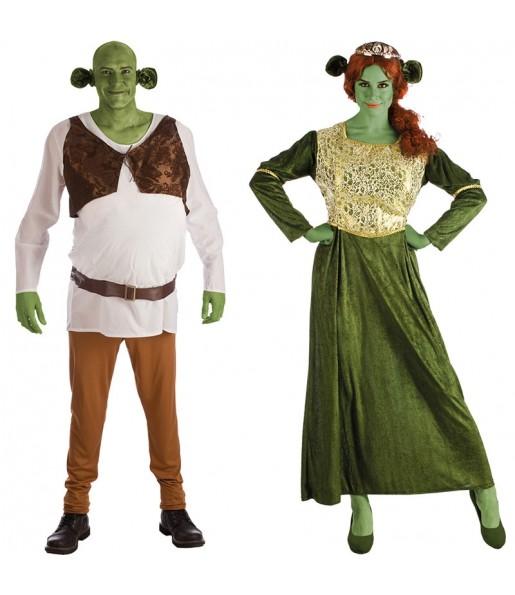 Pareja Shrek y Fiona