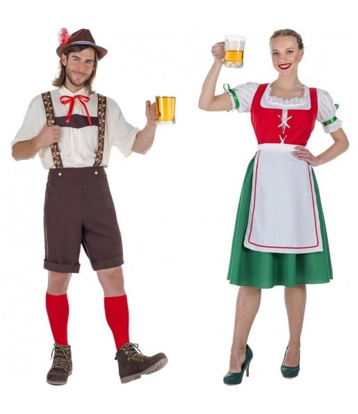 Pareja Tiroleses Oktoberfest