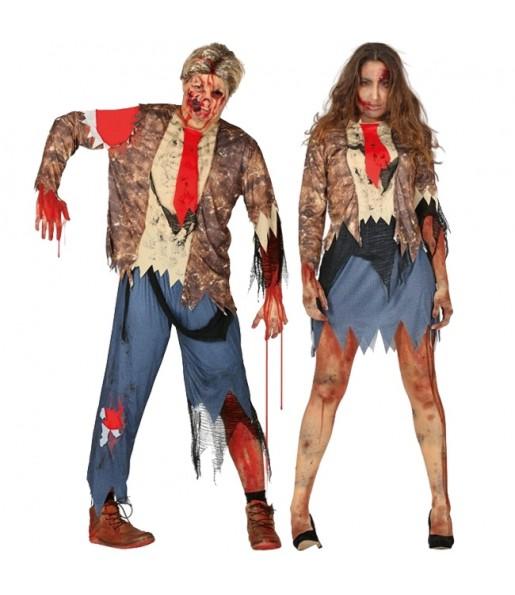 Pareja Zombies Malditos