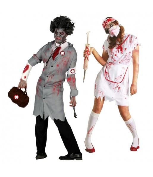 Pareja Doctor y Enfermera Zombies