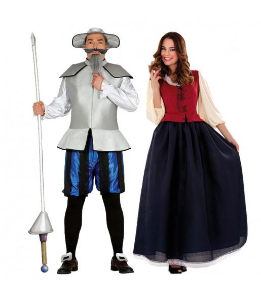 Pareja Disfraces Quijote de la Mancha y Dulcinea