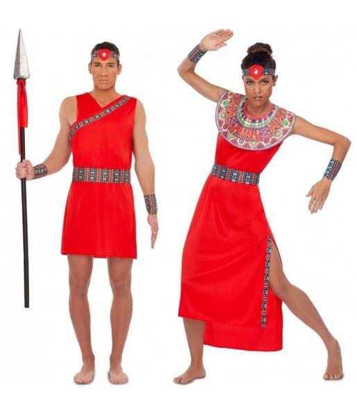 Pareja Guerreros Tribu Masái