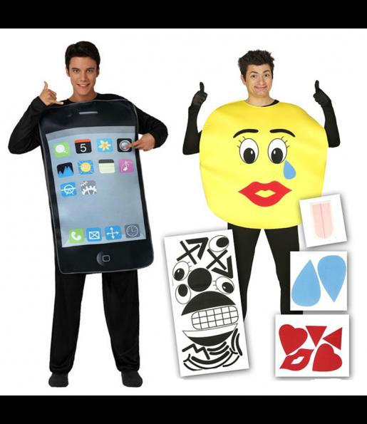 Pareja Iphone y Emoticono