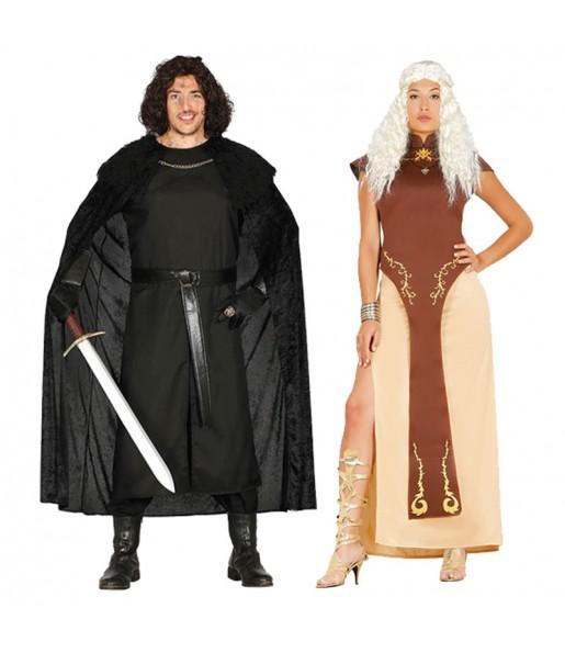 Pareja Jon Nieve y Daenerys Targaryen