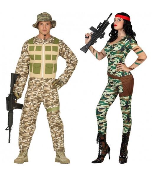 Pareja Militares Camuflaje