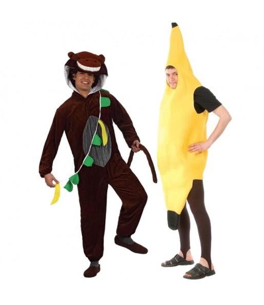 Pareja Mono y Plátano