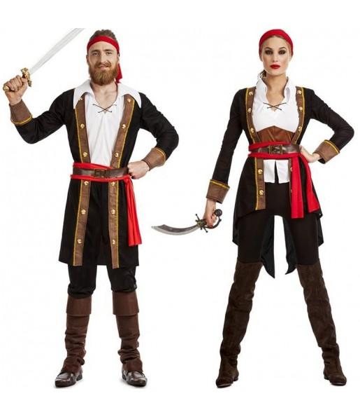 Pareja Piratas Capitán Garfio
