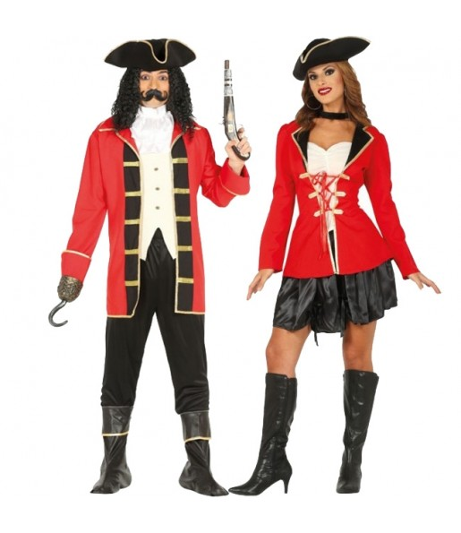 Pareja Piratas Elegantes