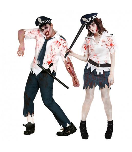 Pareja Policias Zombies