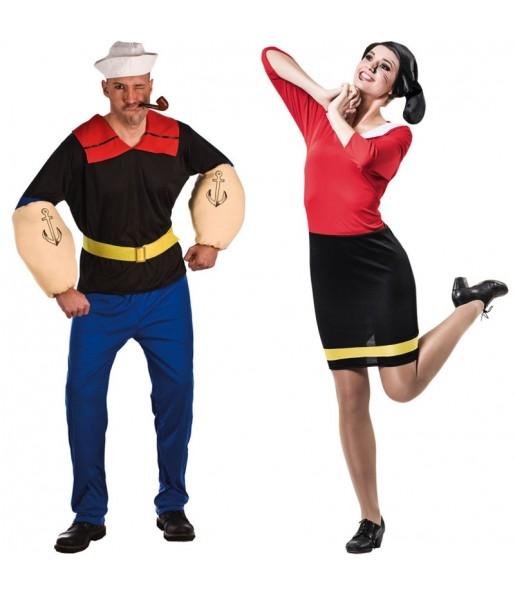 Pareja Popeye El Marino y Olivia