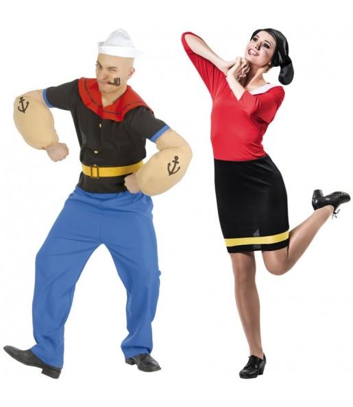 Pareja Popeye y Olivia