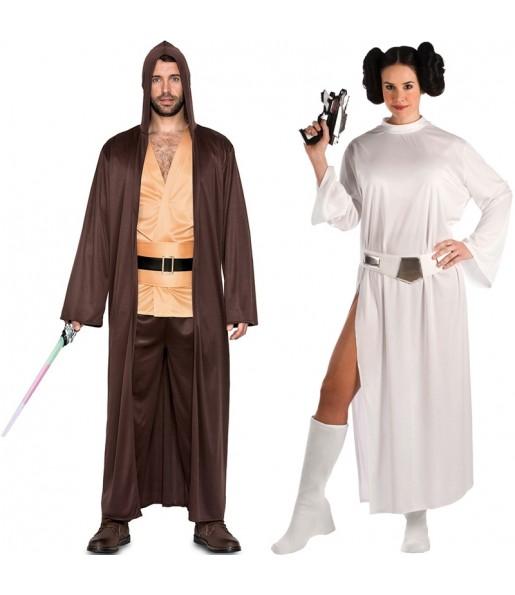 Pareja Qui-Gon Jinn y Princesa Leia