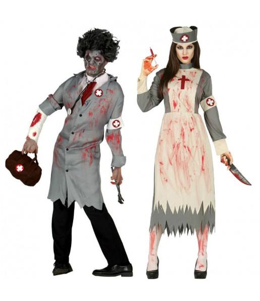 Pareja Enfermeros Sangrientos