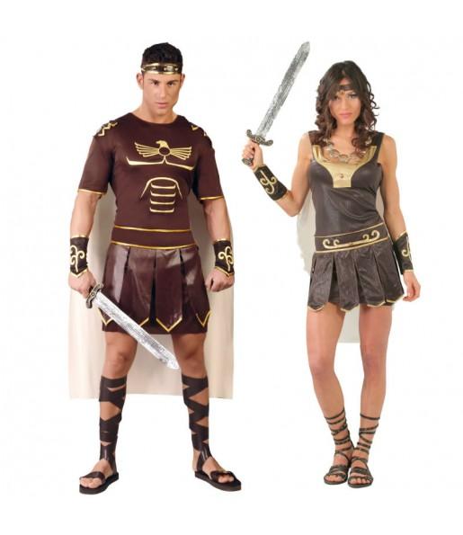 Pareja Gladiadores Romanos