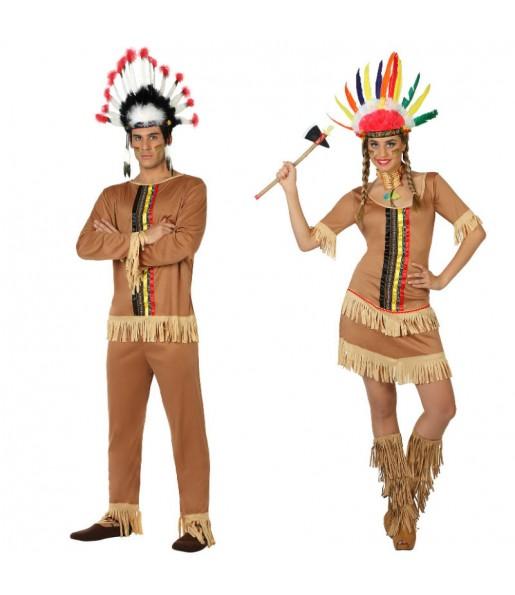 Pareja Jefes Indios Marrones