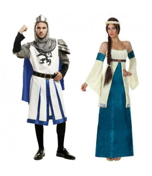 Pareja Medievales Azules