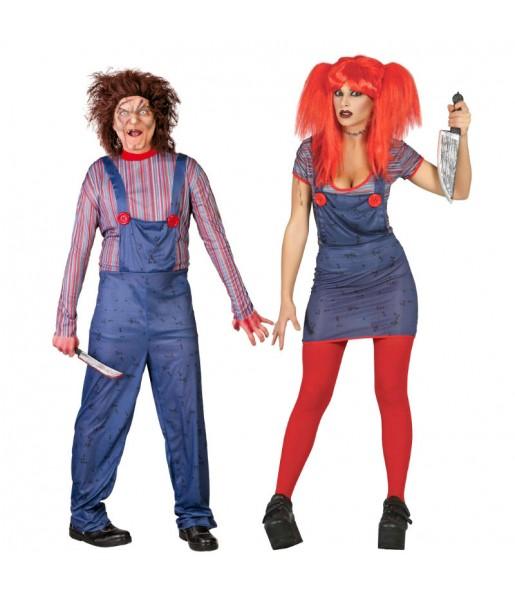 Pareja Muñecos Diabólicos Chucky