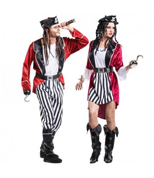 Pareja Piratas Barba Negra