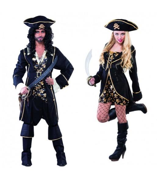 Pareja Piratas Noche