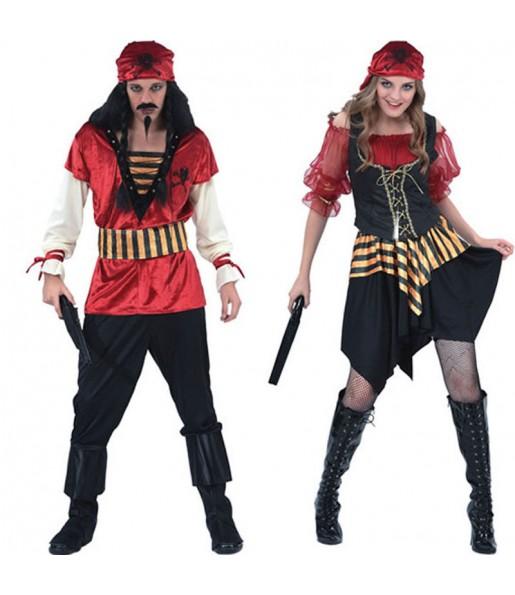 Pareja Piratas Rojos