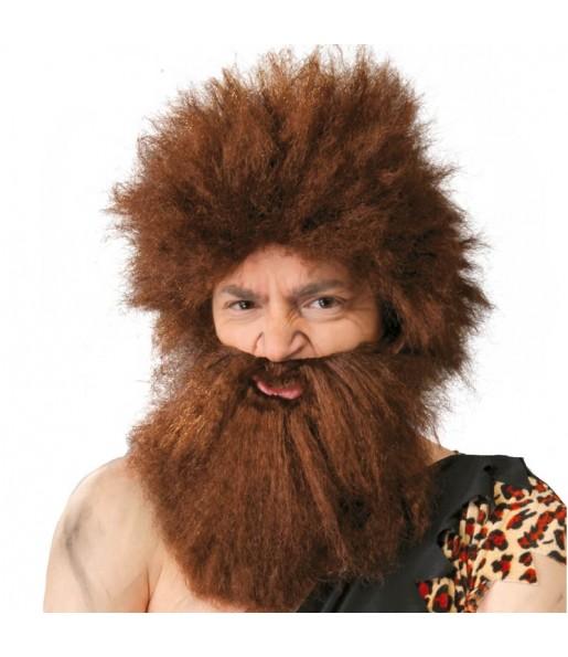 Peluca Cavernícola con barba