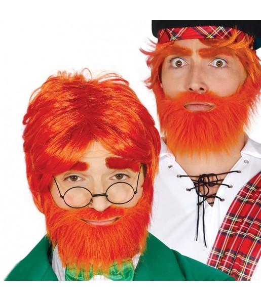 Peluca con barba escocés